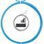 capgo BL Schaltset lang für Shimano/Sram MTB & ATB/Road Blau